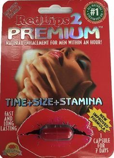Red Lips 2 Premium Improved Formula Male Enhancement pill ()