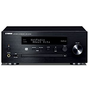Silver Yamaha MusicCast CRXN470D Compact Audio System with Built in Wifi Airplay /& Bluetooth