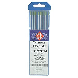 "CK T3327GTM LaYZr Tungsten Electrode 3/32"" x 7"" Pack of 10 by CK Worldwide"