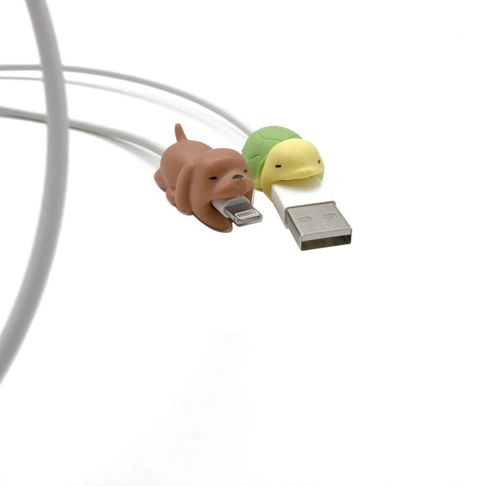 CKANDAY 12 Pcs Mignon Animal C/âble Bites Protector Saver Chompers Chewers Copains Protection pour T/él/éphone Portable Accessoires Chargeur Cordon USB C/âble De Recharge
