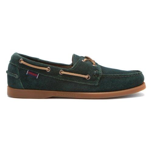 Sebago Mens Docksides Boat Shoe Dark Green d1L3jMU6