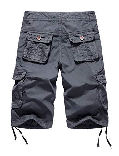 Travail 2018 Pour Fête Vêtements De Sport Hommes Short Homme Dunkelgrau En Décontracté Pantalon Nouveau Court Cargo Chino Coton Avxwp