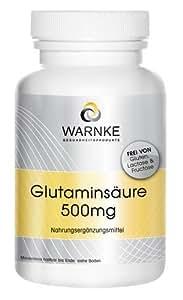 Ácido glutamínico – 500mg – sustancia pura sin aditivos – 100 cápsulas – vegetariano – 58g