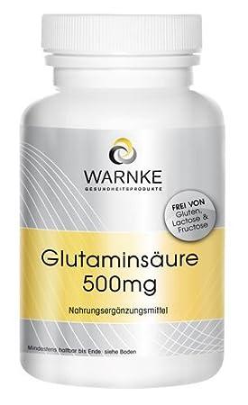 Ácido glutámico 500mg - 250 cápsulas - Sustancia pura sin aditivos: Amazon.es: Salud y cuidado personal