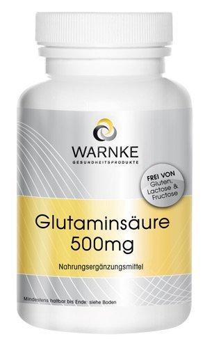 Ácido glutámico 500mg – 250 cápsulas – Sustancia pura sin aditivos