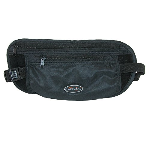 TLPOIBK Miami Carry-on Travel Money Belt - Black by Miami Carry-on