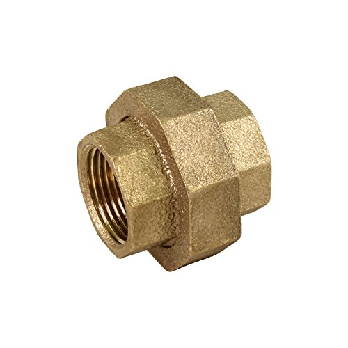 - Everflow BRUN0100-NL 1 Inch Lead Free Brass Union For 125 Lb Applications, With Female Threaded Connects Two Pipes, Brass Construction, Higher Corrosion Resistance Economical & Easy to Install