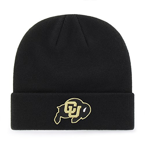 Ncaa Cap Black (OTS NCAA Colorado Buffaloes Raised Cuff Knit Cap, Black, One Size)