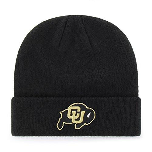 OTS NCAA Colorado Buffaloes Raised Cuff Knit Cap, Black, One Size (Colorado Baseball Buffaloes)