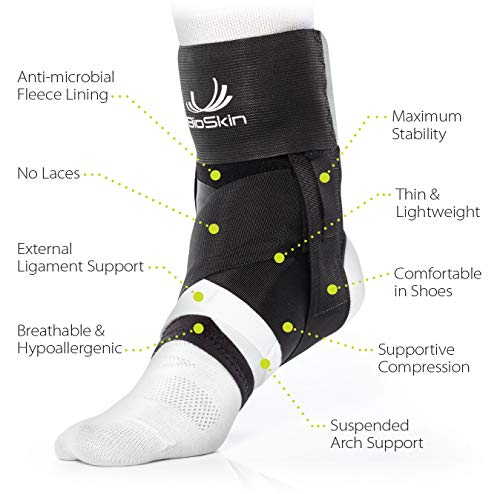 BioSkin Trilok Ankle Brace - Foot and Ankle Support for Ankle Sprains, Plantar Fasciitis, PTTD, Tendonitis and Active Ankle Stability - Lightweight, Hypo-Allergenic (XSmall) by BIOSKIN (Image #2)