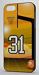 Basketball Sports Fan Player Number 31 Black Plastic Decorative iphone 5s Case