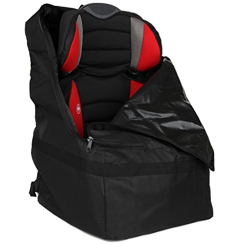 Full Size Car Seat Travel Bag - Black Carseat Carrier and Car Seat Bag for Airplane by Hope and Kisses (Image #1)