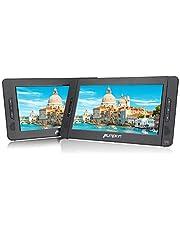 Pumpkin Reproductor de dvd portatil coche 2 pantallas 10 pulgadas ( 5 Horas Duración, USB, SD ) con Soporte para Resposacabezas , Negro