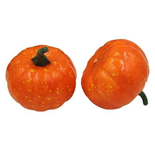 Xusun Halloween Modern Artificial Pumpkin Simulation Fake Lifelike Props Orange Garden Home Decor