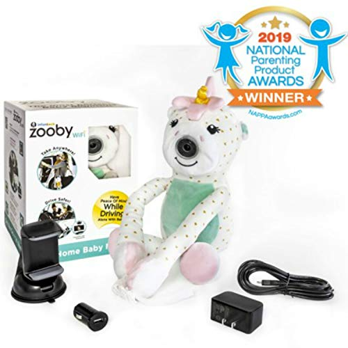 Zooby WiFi Direct Portable Video Baby Monitor – The Only Truly Mobile Baby Camera for Home, Car, Backyard, Mom Invented for Total Peace of Mind Because Baby is Always in View, Unicorn