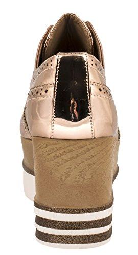 Elara - zapatos con cordones Mujer Rose Gold