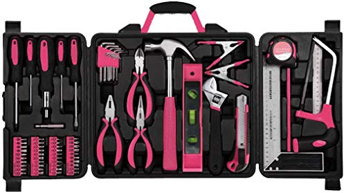 Tool Kit. Best Portable Small Basic Starter Professional Household DIY Hand Mixed Repair Set W/Storage Case For Home, Garage, Office For Men, Women. Includes Screwdriver, Wrench, Pliers, Etc. by Tool Kit (Image #1)