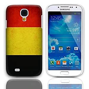 WEV Vintage The Flag of Belgium Design Hard Case with 3-Pack Screen Protectors for Samsung Galaxy S4 mini I9190