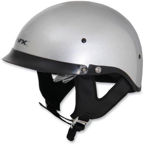 r Lens Half-Style Beanie Helmet, Silver 0103-0742, Size: Lg (Afx Beanie Half Helmet)