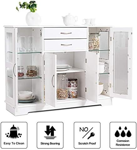 home, kitchen, furniture, kitchen, dining room furniture,  buffets, sideboards 8 on sale Giantex Sideboard Buffet Server Storage Cabinet W/ 2 deals
