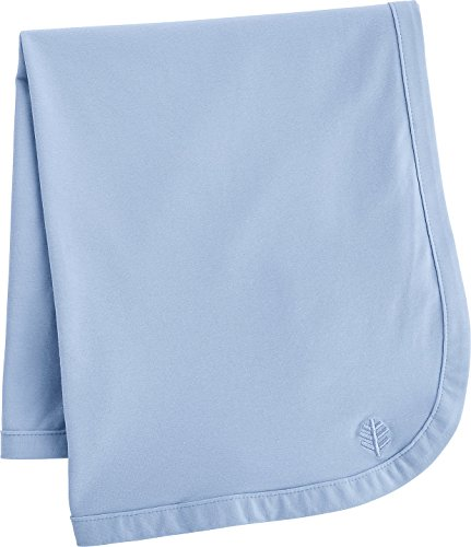 Coolibar UPF 50+ Baby Sun Blanket - Sun Protective (One Size- Vintage Blue)