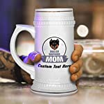 Custom Beer Mug Mom English Shepherd Dog Ceramic Drinking Glasses Beer Gifts White 18 OZ Personalized Text Here 11