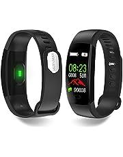HUYVMAY Activity Tracker Smart Watch, IP68 Waterdichte Fitness Tracker voor Vrouwen Mannen Kids, Fitness Armband met Hartslagmeter Sleep Tracker Stappenteller, Fit Horloge met oproep en berichtmelding
