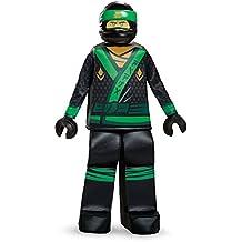 Lloyd LEGO Ninjago Movie Prestige Costume, Green, Small (4-6)