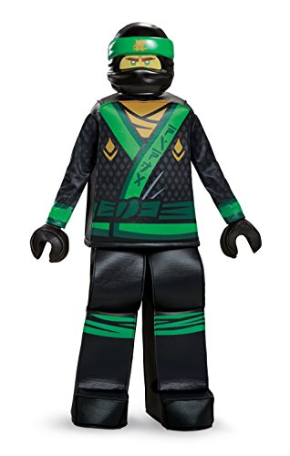 Disguise Lloyd Lego Ninjago Movie Prestige Costume, Green, Small (4-6)