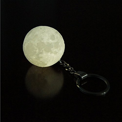 LED Moon Light Keychain, 3D Printing Key Chain, Car Key Chain