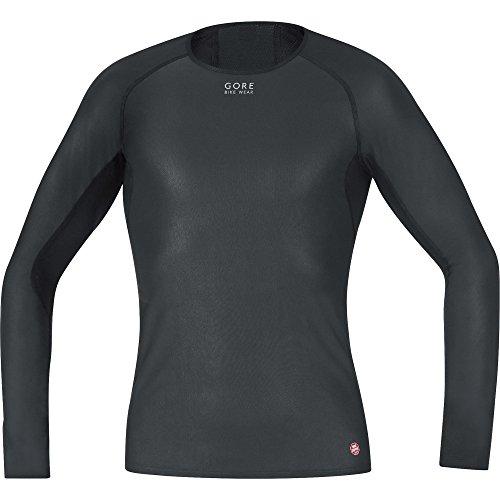 (Gore Bike Wear Men's Base Layer Windstopper Long Shirt, Black, Large)