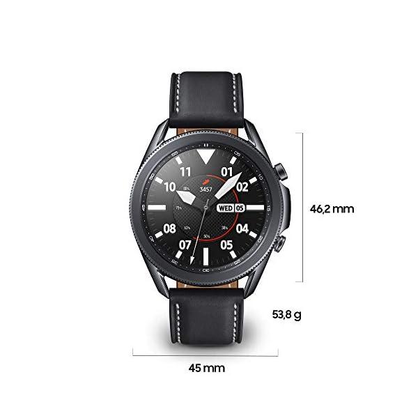 Samsung Galaxy Watch3 Smartwatch Bluetooth, cassa 45mm acciaio, cinturino pelle, Saturimetro, Rilevamento cadute… 3