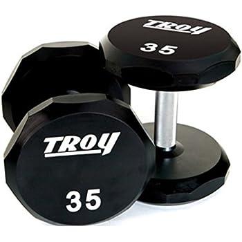 Troy Barbell Tsd-005-050U Sided Urethane Encased Dumbbell, 5-50 lb