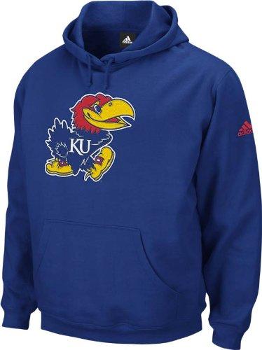 NCAA Men's Kansas Jayhawks Playbook Fleece Hoodie (Blue, - Playbook Hoody