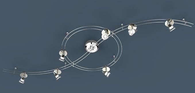 LED Deckenstrahler 7 flammig Spots beweglich Decken Spot ...