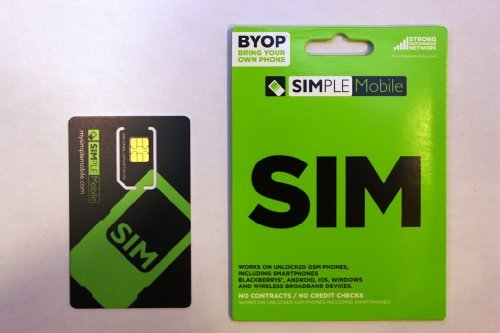 Simple Mobile Starter Kit Card for LG cell phone (Lg Shine Cu720)