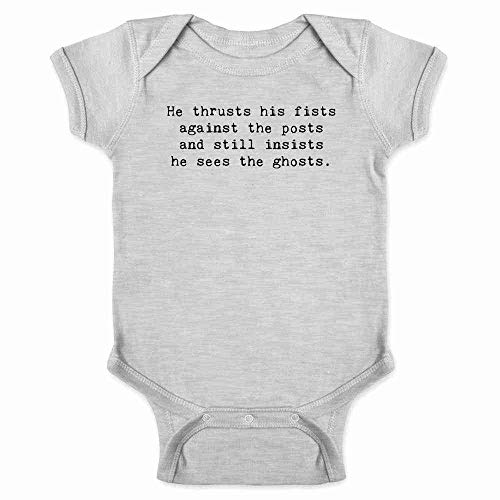 He Thrusts His Fists Against The Posts. Gray 12M Infant Bodysuit