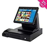 all cash register - ZHONGJI All in One Retail Bundle Pos Point of Sale Pos System Cash Register Includes AP-B6000 Touch Screen PC, Thermal Receipt Printer,Steel Cash Drawer,Keyboard and Mouse(AP-B6000-SET02)