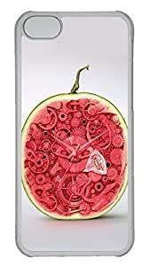 Customized iphone 5C PC Transparent Case - Watermelon Sweet Cover