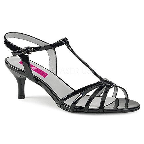 Pleaser Pink Label Women's Kit06/b Dress Pump, Black Patent, 9 M US