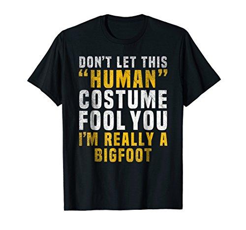 Bigfoot Funny Halloween Shirt Costume Easy Idea Gift ()