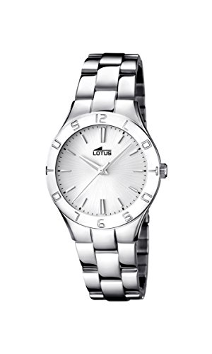 Lady's Watch - Lotus - Stainless Steel Band - 15895/1