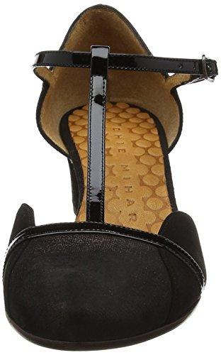 Chie Mihara C-zuleika31, Scarpe con Cinturino Donna Brown (Ginza Testa-ante Negro)