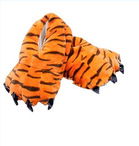 Honeystore Unisex Bequem Plüsch Hausschuhe Tier Kostüm Klaue Schuhe Leopard