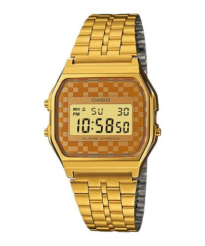 Casio-A159WGEA-9A-Mens-Vintage-Gold-Tone-Chrongoraph-Alarm-LCD-Digital-Watch