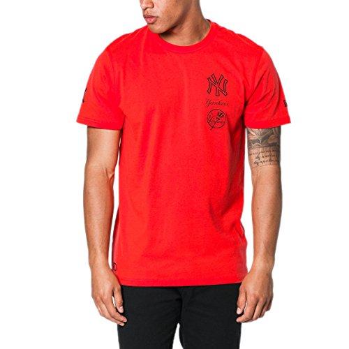 A NEW ERA T-Shirt MLB New York Yankees Nights All Pop Rosso Formato: XXS (XX-Small)