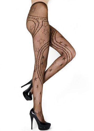 Stella Elyse Swirling Ribbons Pantyhose