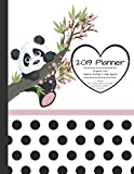 2019 Planner Organize Your Weekly, Monthly, & Daily Agenda: Features Year at a Glance Calendar, List of Holidays, Motivational Quotes and Plenty of Note Space (Panda)