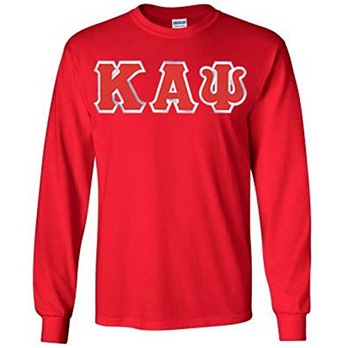 Kappa Alpha Psi Lettered Long Sleeve 2X-Large Red