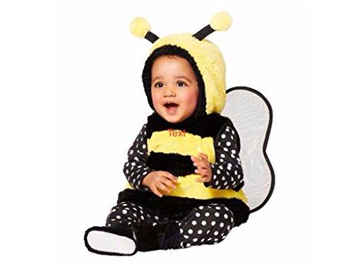 Costume Bee Target Bumble (Infant Bumblebee Halloween Costume Includes Vest with Hood, Shirt, Leggings and Booties)